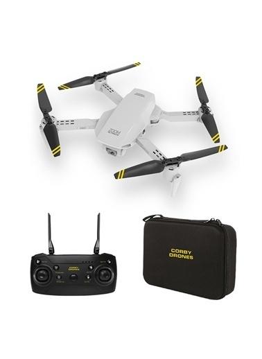 Corby CX017 Wifi Çift Kameralı Katlanabilir 1080P Drone + 2 Bataryalı Set Renkli